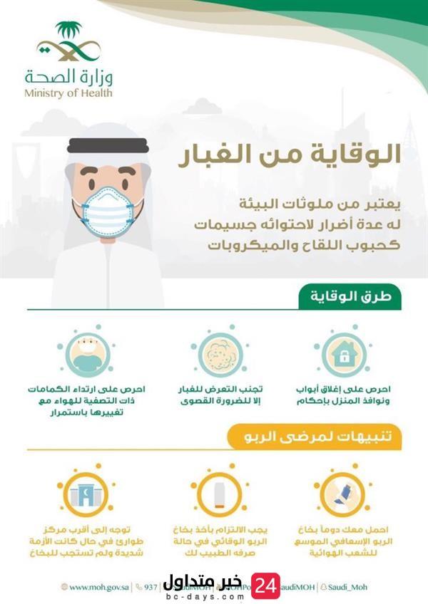 """الصحة"""" تنبه مرضى الربو وتوجه عدداً من النصائح للوقاية من الغبار"""