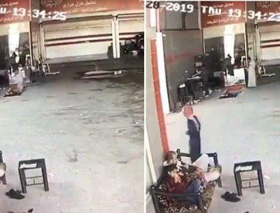 """يلعب """" ببجي"""" وهو يمشي داخل ورشة إصلاح سيارات .. شاهد .. النهاية الصادمة !"""