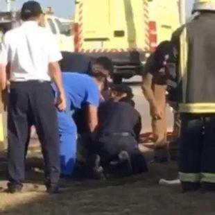 العثور على جثة طفل سقط في حفرة صرف صحي بمحافظة الجبيل